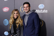 Samantha Ponder and Christian Ponder attend the Allstate party at the Playoff Blue Carpet on January 9, 2016 in Phoenix, Arizona.