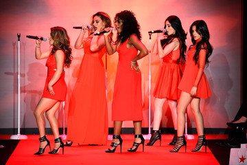 Ally Brooke Camila Cabello American Heart Association Go Red For Women Red Dress Collection 2015 Presented By Macy's At Mercedes-Benz Fashion Week - Runway
