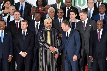 Alpha Conde EU and African Leaders Attend 5th EU-Africa Summit
