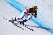 Viktoria Rebensburg of Germany makes a run during Alpine Skiing Ladies' Downhill Training on day 10 of the PyeongChang 2018 Winter Olympic Games at Jeongseon Alpine Centre on February 19, 2018 in Pyeongchang-gun, South Korea.