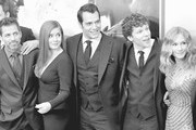 "(Editors Note: This image was processed using digital filters) (L-R) Director Zack Snyder, actors Amy Adams, Henry Cavill, Jesse Eisenberg, and Holly Hunter attend The ""Batman V Superman: Dawn Of Justice"" New York Premiere at Radio City Music Hall on March 20, 2016 in New York City."