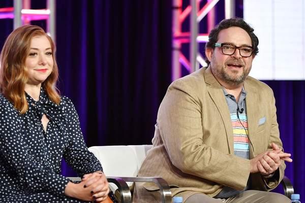 2020 Winter TCA Tour - Day 10 [yellow,event,interaction,conversation,adaptation,performance,alyson hannigan,nacho aguirre,girl scout cookie championship,pasadena,california,the langham huntington,food network,winter tca,segment,winter tca press tour,alyson hannigan,alexis denisof,kim possible,television,actor,photograph,image,cbs]