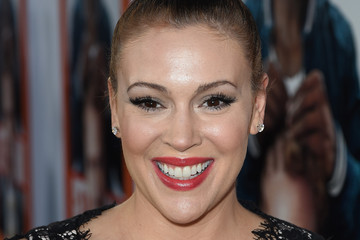 Alyssa Milano Premiere Of Warner Bros. Pictures' 'Get Hard' - Red Carpet
