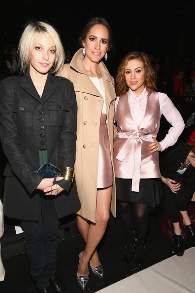 Front Row at the Marissa Webb Show [clothing,trench coat,fashion,fashion model,event,outerwear,coat,fashion design,blond,formal wear,marissa webb,alyssa milano,cory kennedy,louise roe,tresemme,front row,lincoln center,new york city,mercedes-benz fashion week,fashion show]