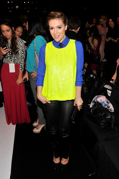 Alyssa Milano - MBFW: Front Row at Project Runway