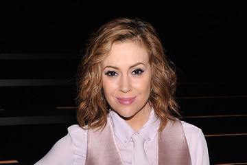Alyssa Milano Front Row at the Marissa Webb Show