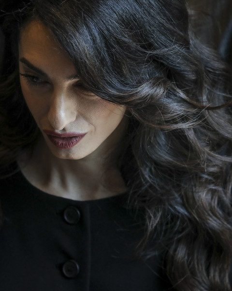 United Nations Security Council Considers Resolution On Sexual Violence In Conflict [hair,face,hairstyle,lip,black hair,beauty,chin,eyebrow,nose,long hair,amal clooney,violence,language,resolution,rape,headquarters,united nations security council considers resolution on sexual violence in conflict,member nations,meeting,conflict]