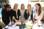 (L-R) Hassan Pierre, Elizabeth Gilpin, Uma von Wittkamp, Jamie Johnson and  Charlotte Kidd attend the Maison De Mode Oscar week lunch hosted by Rosario Dawson, Amanda Hearst, Hassan Pierre & Spotify at Petit Ermitage on February 18, 2015 in West Hollywood, California.