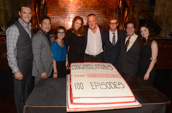 """CBS Celebrates 100 Episodes Of """"The Mentalist"""" - Inside [episodes,the mentalist,event,peter roth,nina tassler,bruno heller,robin tunney,actors,tim kang,cutting,cbs]"""