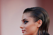 """Taylor Hill walks the red carpet ahead of the movie """"Amants"""" at the 77th Venice Film Festival at  on September 03, 2020 in Venice, Italy."""