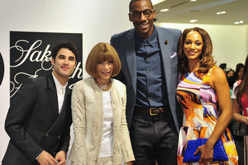 Amare Stoudemire Alexis Welch Fashion's Night Out At SAKS Fifth Avenue