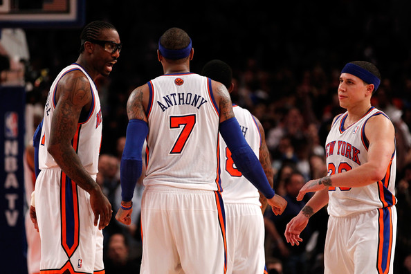 Amare Stoudemire and Carmelo Anthony - Miami Heat v New York Knicks - Game Four