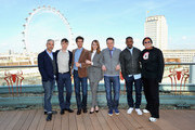 Producer Matt Tolmach, actors Dane DeHaan, Andrew Garfield, Emma Stone, director Marc Webb, actor Jamie Foxx and producer Avi Arad attend 'The Amazing Spider-Man 2' Cast and Filmmaker photocall at the Park Plaza Hotel on April 9, 2014 in London, England.