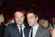 "Director Marc Webb and BJ Novak attend the after party for ""The Amazing Spider-Man 2"" premiere at Skylight at Moynihan Station on April 24, 2014 in New York City."