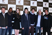 "(L-R) Director Marc Webb, actors Jamie Foxx, Emma Stone, kabuki actor Shido Nakamura, actor Andrew Garfield, producers Matt Tolmach and Avi Arad  attend ""The Amazing Spider-Man 2: Rise Of Electro"" press conference on March 31, 2014 in Tokyo, Japan."