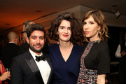 (L-R) Amazon Head of Half-Hour Series Joe Louis, actresses Gaby Hoffmann and Carrie Brownstein attend Amazon's Golden Globe Awards Celebration at The Beverly Hilton Hotel on January 10, 2016 in Beverly Hills, California.
