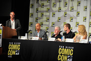 (L-R) IMDbÂ's Managing Editor Keith Simanton, creator Ben Watkins, actors Ron Perlman, Garret Dillahunt and Alona Tal speak onstage during Amazon Original Series 'Hand of God' Panel And Signing on July 9, 2015 in San Diego, California.