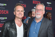 Head of Amazon Studios Roy Price and author and creator Michael Connelly attend Amazon Red Carpet Premiere Screening For Season Two Of Original Drama Series, 'Bosch' on March 3, 2016 in Los Angeles, California.