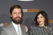 Actress Carrie Brownstein (R) and guest attend Amazon Studios Golden Globes Celebration at The Beverly Hilton Hotel on January 8, 2017 in Beverly Hills, California.