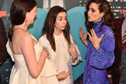 Anne Hathaway, Cristin Milioti and Emmy Rossum attend Amazon's Museum Of Modern Love on October 10, 2019 in New York City.