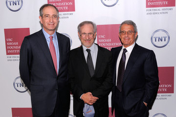 Steven Spielberg Ron Meyer The Ambassadors For Humanity Gala Honoring Brian L. Roberts To Benefit The USC Shoah Foundation Institute - Inside