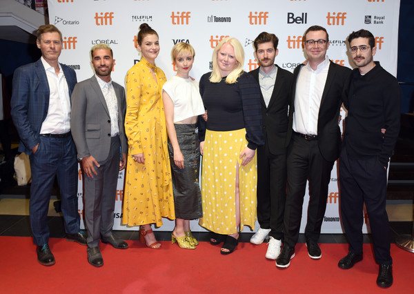 2019 Toronto International Film Festival - 'White Lie' Photo Call [event,premiere,carpet,red carpet,flooring,award,white lie,photo call,l-r,toronto international film festival,photo call,guest,karen harnisch,yonah lewis,calvin thomas,kacey rohl]