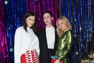 Amber Anderson Burberry x Cara Delevingne Christmas Party, London
