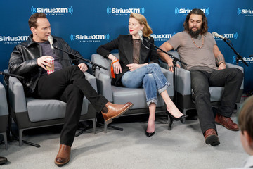 Amber Heard Patrick Wilson SiriusXM's Town Hall With The Cast Of 'Aquaman'