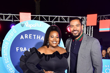 Amber Riley BET Presents: 2018 Soul Train Awards - Pre Show