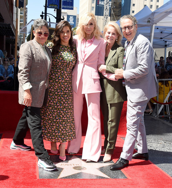 Judith Light Honored With A Star On The Hollywood Walk Of Fame [red carpet,carpet,event,flooring,fashion,premiere,tourism,leisure,performance,judith light honored with a star on the hollywood walk of fame,hollywood,california,judith light,jill soloway,daryl roth,bernard telsey,america ferrera]