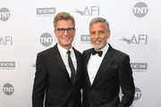 President of TBS and TNT and Chief Creative Officer, Turner Entertainment Kevin Reilly (L) and honoree George Clooney attend the American Film Institute's 46th Life Achievement Award Gala Tribute to George Clooney at Dolby Theatre  on June 7, 2018 in Hollywood, California.  389298