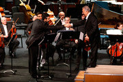 The Israel Philharmonic Orchestra performs onstage, conducted by Zubin Mehta, during the American Friends of the Israel Philharmonic Orchestra Duet Gala at the Wallis Annenberg Center for the Performing Arts on November 10, 2015 in Beverly Hills, California.