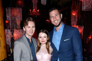 (L-R) Bruce Langley, Emily Browning and Pablo Schreiber attend the American Gods Season Two Red Carpet Premiere Event on March 5, 2019 in Los Angeles, California.