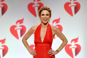Amy Robach walks the runway for The American Heart Association's Go Red For Women Red Dress Collection 2019 Presented By Macy's at Hammerstein Ballroom on February 7, 2019 in New York City.