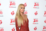 Paris Hilton attends The American Heart Association's Go Red For Women Red Dress Collection 2020 at Hammerstein Ballroom on February 05, 2020 in New York City.