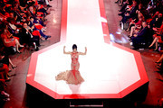 Danica McKellar walks the runway for The American Heart Association's Go Red For Women Red Dress Collection 2019 Presented By Macy's at Hammerstein Ballroom on February 7, 2019 in New York City.