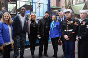 Dr. Robin Ganzert, guest, Coco Austin, Ice-T and Lois Pope (C) attend American Humane Association Salutes Four-Legged Military Heroes During 2014 Veterans Day Parade  on November 11, 2014 in New York City.