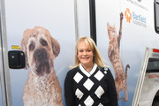 Candy Spelling attends the American Humane unveiling of the California Rescue Truck at The Beverly Hilton Hotel on September 15, 2017 in Beverly Hills, California.
