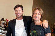 (L-R) Harry Connick, Jr. and Keith Urban arrive at the Ernest N. Morial Convention Center on August 27, 2014 in New Orleans, Louisiana.