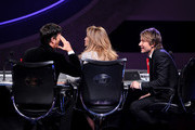 """(L-R) American Idol Judges Harry Connick, Jr., Jennifer Lopez, and Keith Urban onstage during Fox's """"American Idol"""" XIII Finale at Nokia Theatre L.A. Live on May 21, 2014 in Los Angeles, California."""
