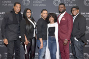 "(L-R) Executive producer Tony Cornelius, actors Kelly Price, Jason Dirden, Katlyn Nichol and Sinqua Walls, and co-creator Devon Greggory attend the ""American Soul"" screening and conversation at the Paley Center For Media on February 19, 2019 in New York City."
