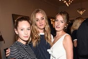 (L-R) Actress Dylan Penn, Elizabeth Gilpin and Uma von Wittkamp attend the Amour Vert x Swith Boutique celebration at Switch Boutique on March 26, 2015 in Beverly Hills, California.