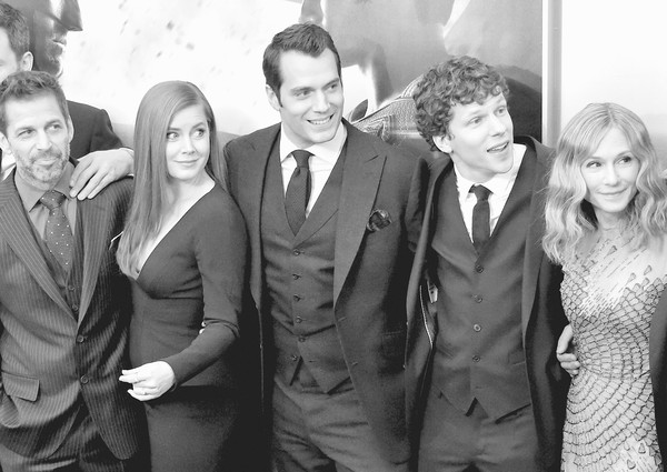 An Alternative View of the 'Batman V Superman: Dawn of Justice' New York Premiere [batman v superman: dawn of justice,image,photograph,people,social group,suit,snapshot,standing,black-and-white,event,formal wear,fun,zack snyder,actors,alternative view,editors note,filters,l-r,new york,premiere]