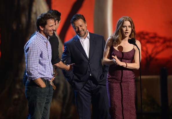 Spike TV's 'Guys Choice' Show [event,performance,stage,performing arts,heater,drama,musical theatre,acting,scene,musical,zack snyder,actors,russell crowe,henry cavill,amy adams,l-r,spike tv,sony pictures studios,guys choice 2013,show]