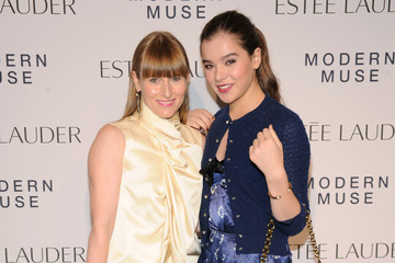 Amy Astley Hailee Steinfeld Arrivals at the Estee Lauder Fragrance Party