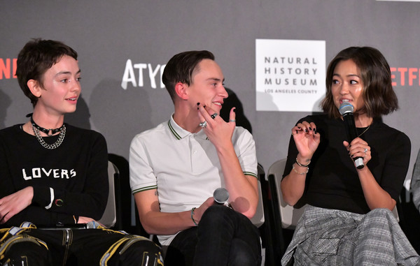 """Netflix """"Atypical"""" Season 3 Special Screening [season,event,conversation,amy okuda,brigette lundy-paine,keir gilchrist,atypical,l-r,screening,los angeles,netflix,screening]"""