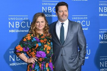 Amy Poehler Nick Offerman NBC's 'NBCUniversal Upfront' - Arrivals