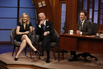 Amy Poehler Seth Meyers US Entertainment Best Pictures Of The Day - February 24, 2014
