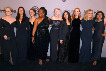 Amy Poehler The 2018 InStyle and Warner Bros. 75th Annual Golden Globe Awards Post-Party - Red Carpet