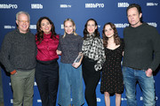 (L-R) Reed Birney, Liz Garbus, Amy Ryan, Miriam Shor, Oona Laurence, and Dean Winters of 'Lost Girls' attend IMDb's 30th Anniversary Dinner at The Sundance Film Festival on January 27, 2020 in Park City, Utah.